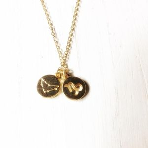 GOLD DAINTY PENDANT DELICATE NECKLACE